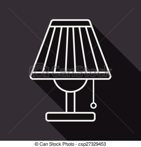 Shadows clipart lamp With of eps10 shadow icon