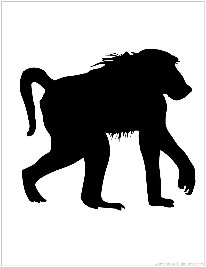 Shadows clipart monkey Silhouette monkey Images Clipart Images