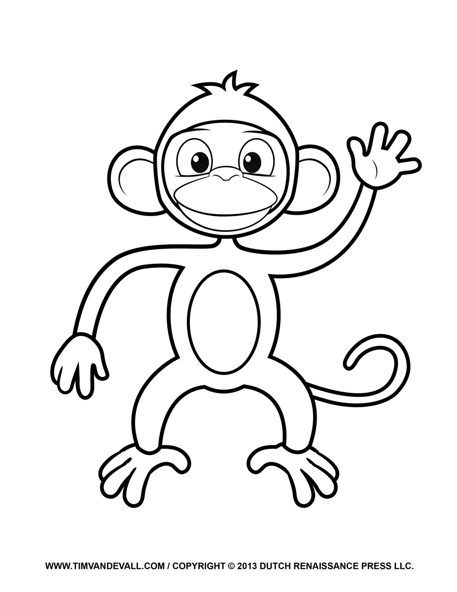 Shadows clipart monkey & Printable Pages Coloring Page