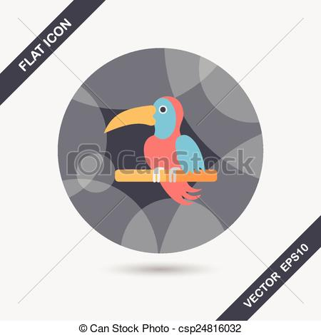 Shadows clipart parrot With of Vectors eps10 icon