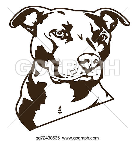 Pitbull clipart vicious dog Who dog Clipart Drawing GoGraph