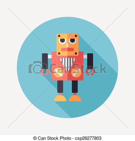 Shadow clipart robot #8