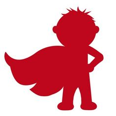 Shadows clipart superhero Hero cape kid Superhero birthday