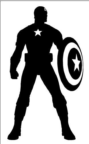 Shadows clipart superhero On ga Pinterest Captain silhouette