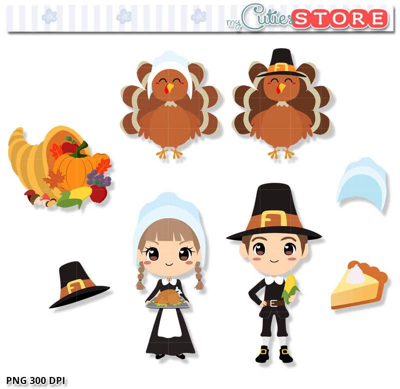 Shadows clipart turkey Digital and file Turkey pilgrim