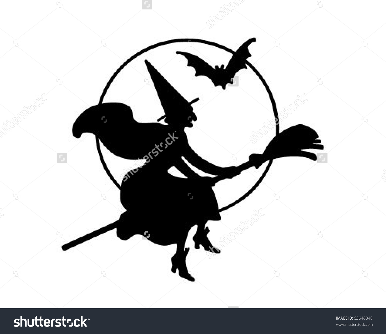 Shadows clipart witch Flying Witch Clipart Clipart Witch