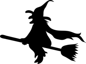 Shadows clipart witch  silhouette clipart Witch