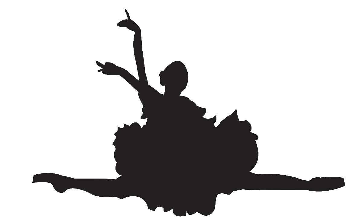 Ballerine clipart jazz shoe Ballet Silhouette Clip Cliparts Ballet