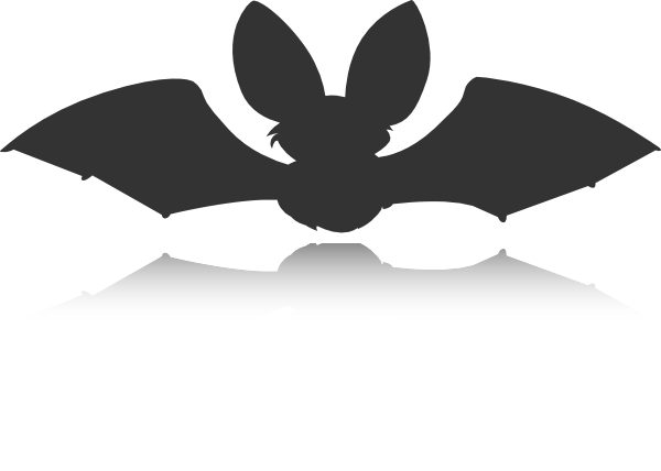 Shadow clipart bat #3