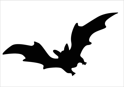 Shadow clipart bat #6