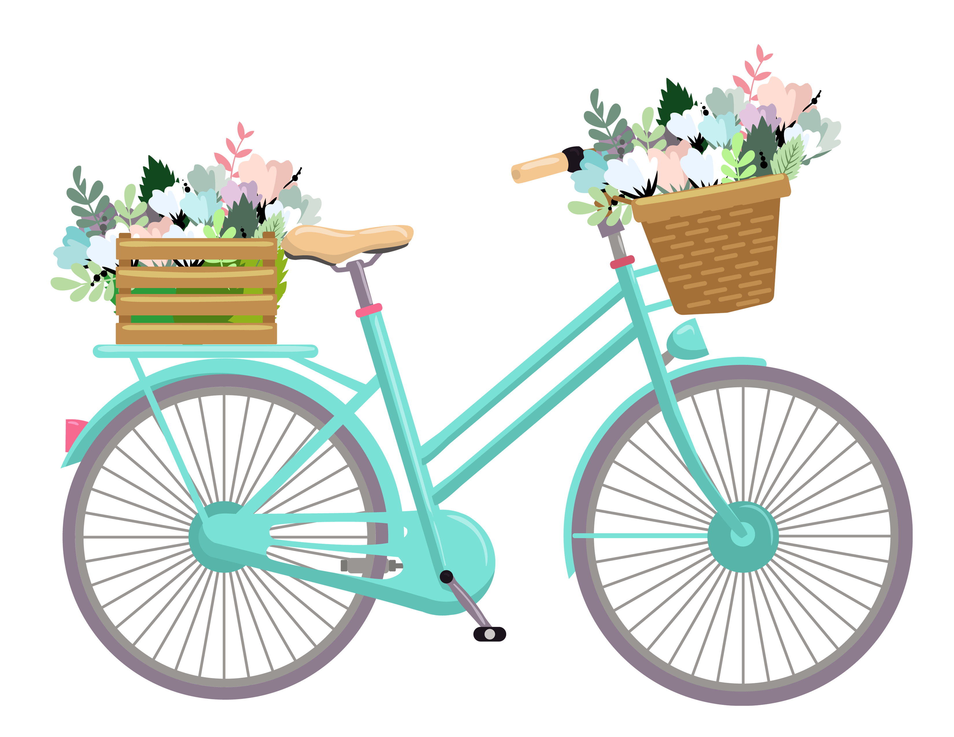 Shaow clipart bike 1 Pretty Bicycle Things For