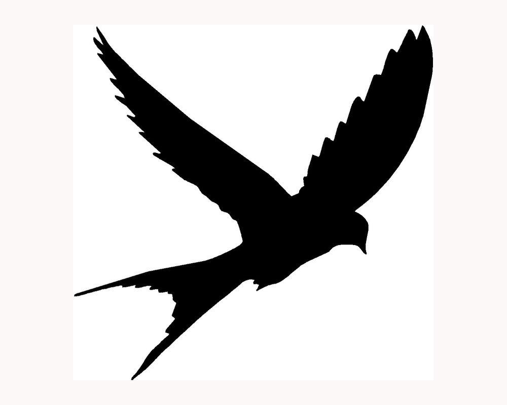 Mockingbird clipart sparrow ClipArt Best Flying Silhouette Tattoo