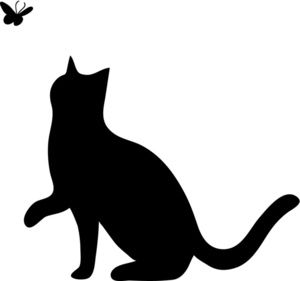 Shadows clipart black cat A Playing with catclipart Silhouette