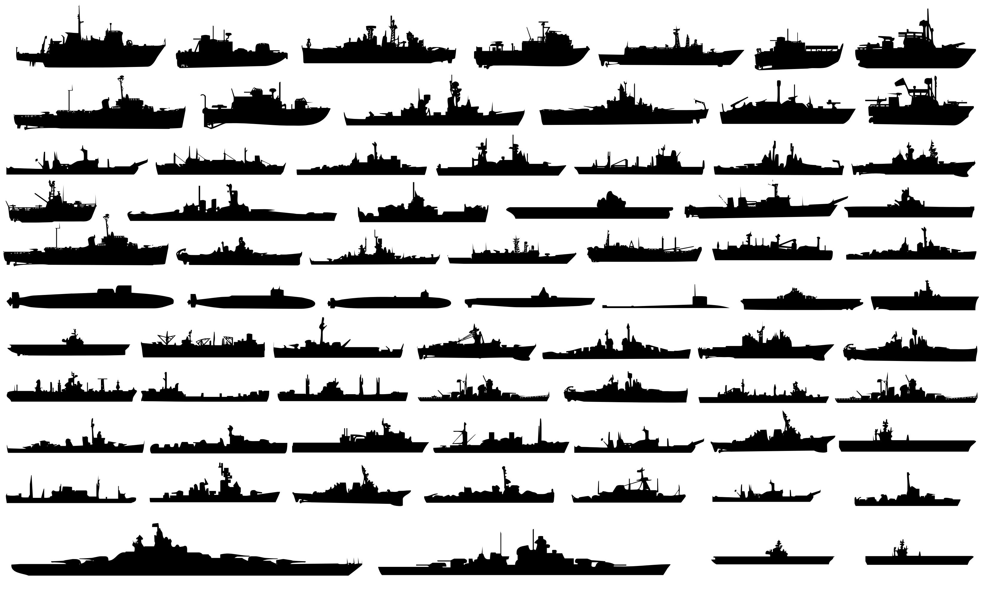 Cruise clipart war ship Silhouette Stock Boat Vessel silhuoette