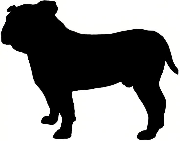 Bulldog clipart silhouette Clipart on Pinterest 25+ Bulldog