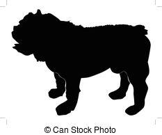 Bulldog clipart silhouette Bulldog bulldog Vector Clipart English