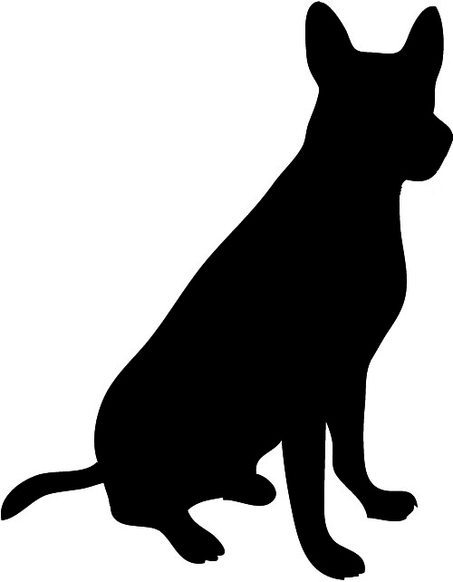 Shadows clipart hunting dog Animal clipart Dog Silhouette shaefer
