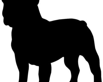 Bulldog clipart silhouette Decal Black the or vinyl