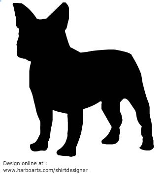 Bulldog clipart silhouette Silhouette French Bulldog French photo#27