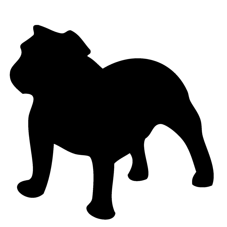 Bulldog clipart silhouette Silhouette French Bulldog French photo#9