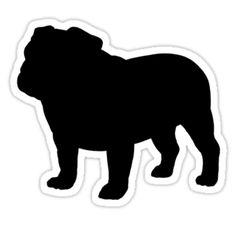 Bulldog clipart silhouette Bulldog Google STUFF Search Search