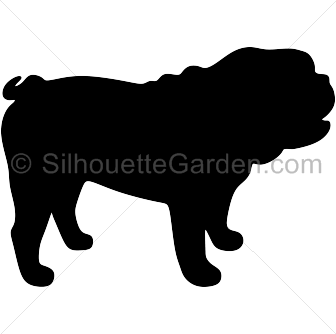 Bulldog clipart silhouette Of versions the  the
