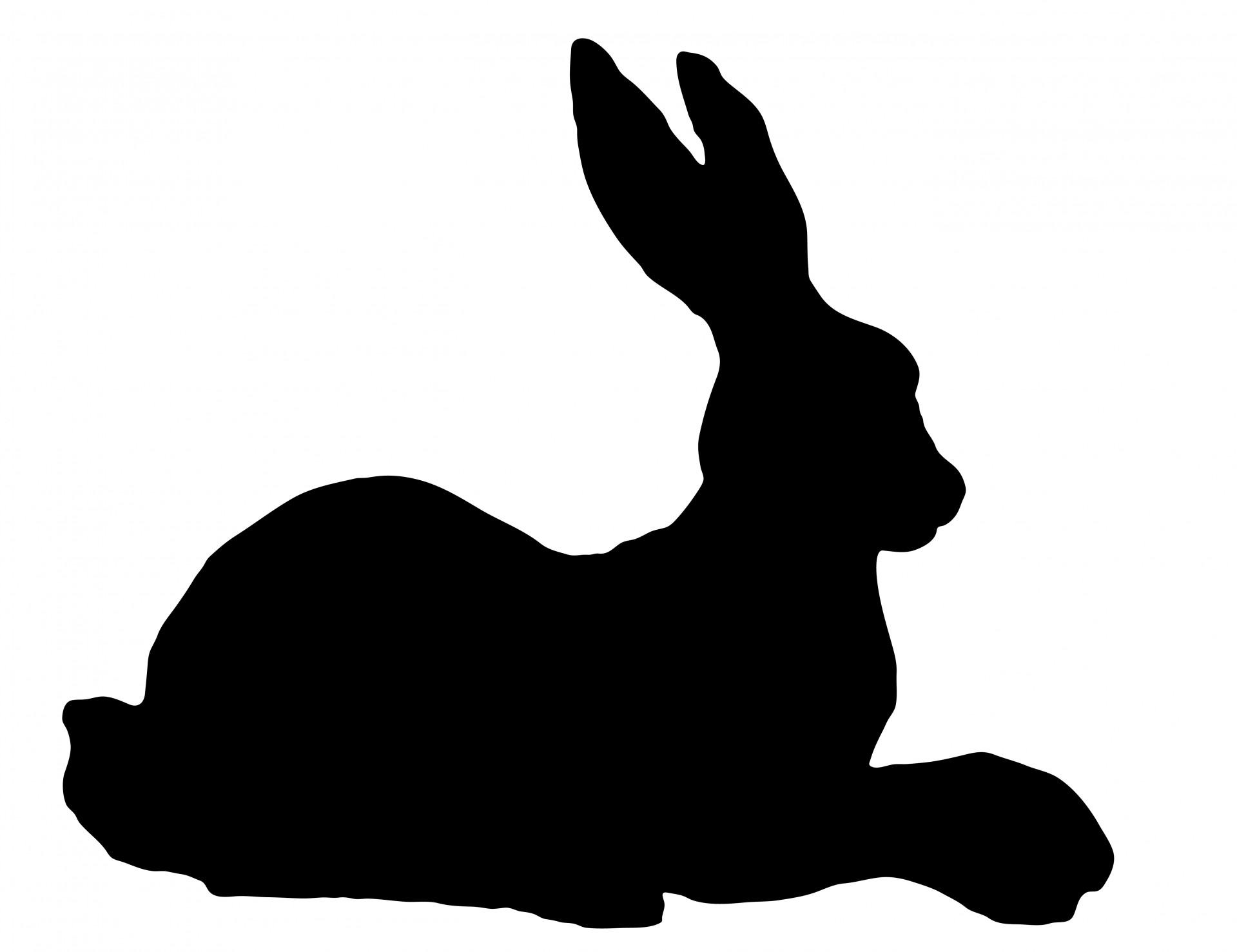 Hare clipart silhouette Silhouette Rabbit Free Clipart Public