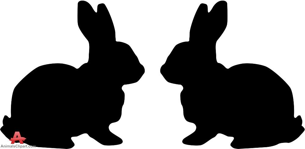Hare clipart silhouette Silhouette Rabbit clipart silhouette clipart