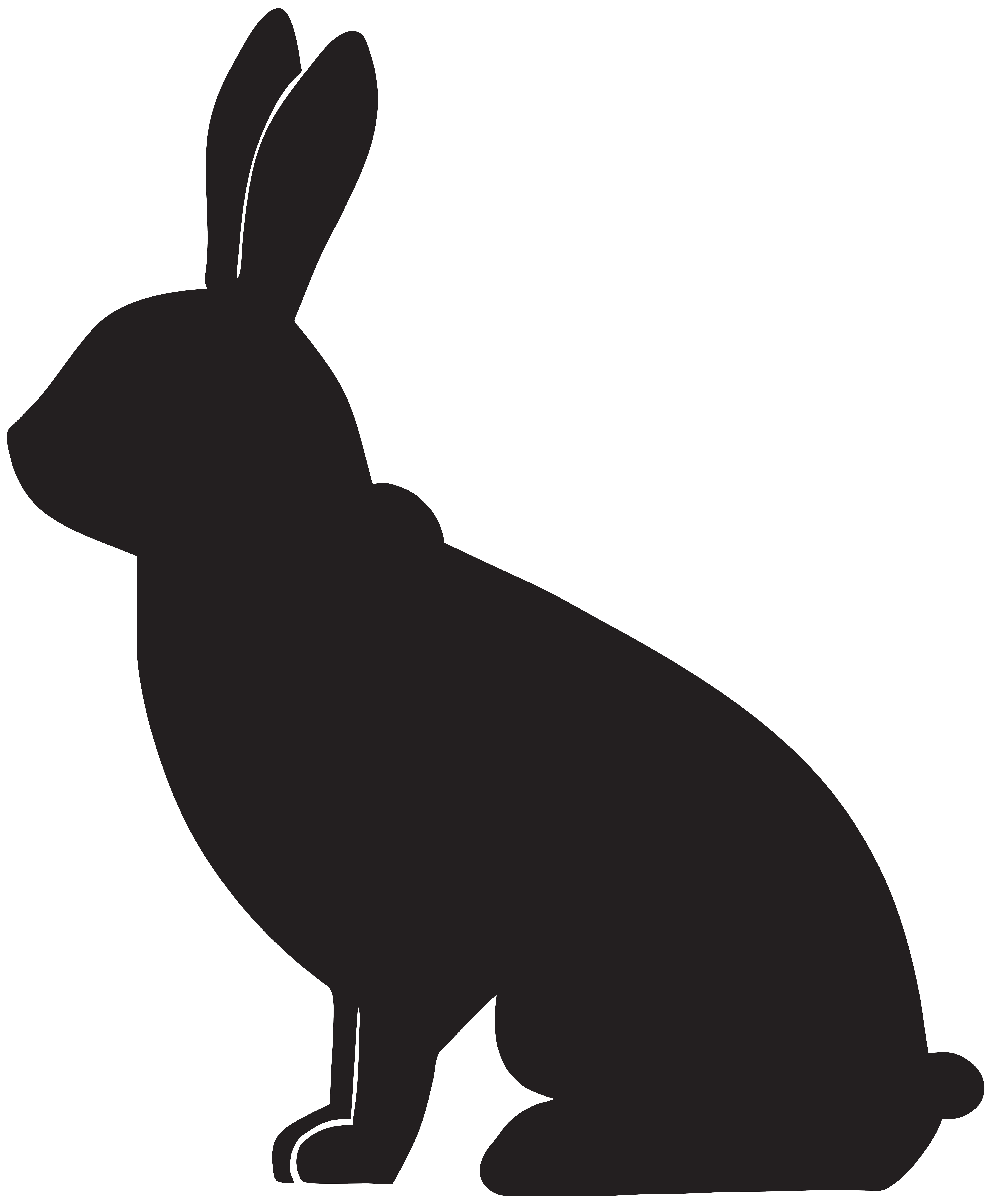 Hare clipart silhouette Art Rabbit Rabbit Image Clip