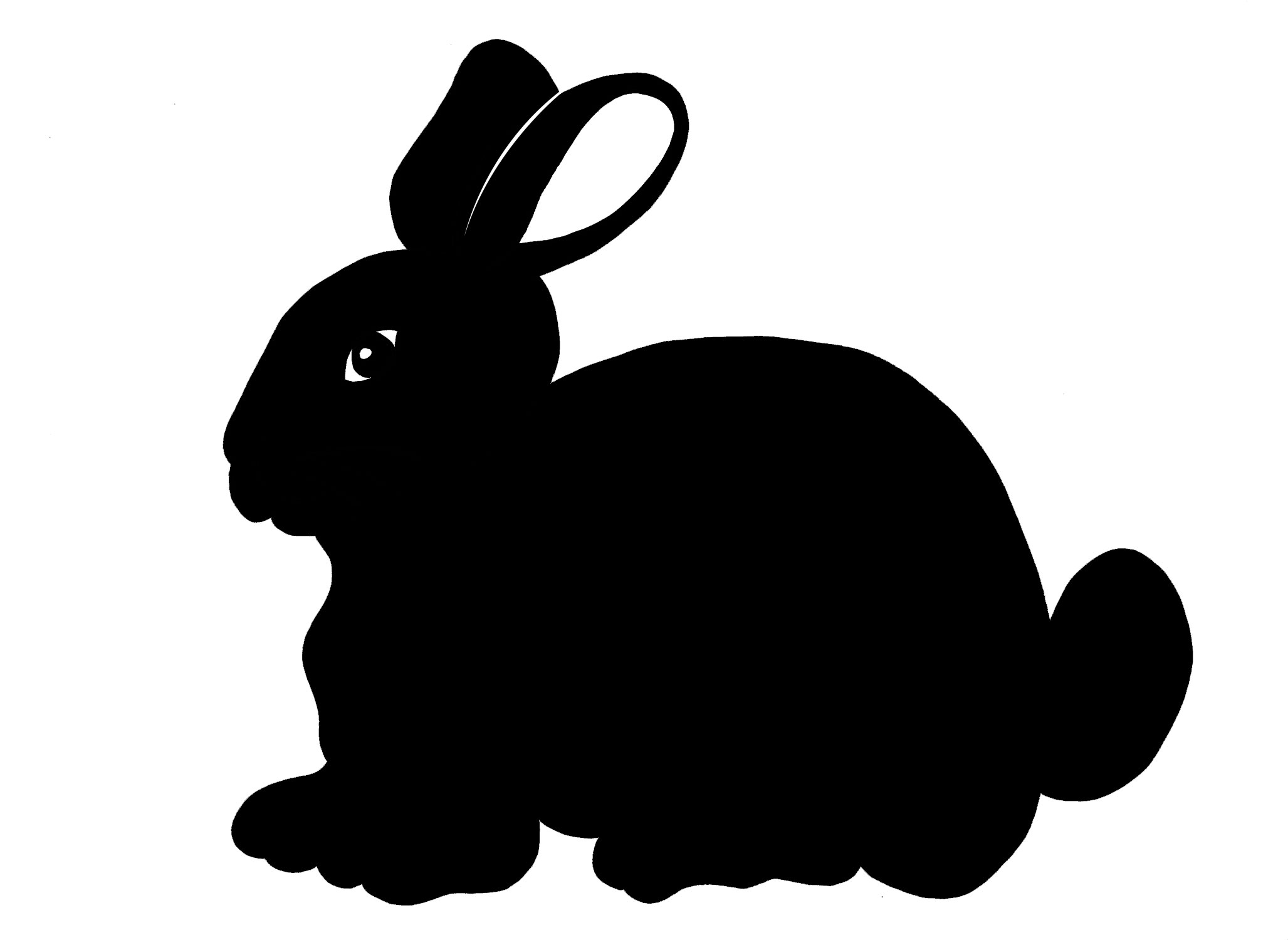 Hare clipart silhouette Easter Easter Silhouettes Rabbit Easter