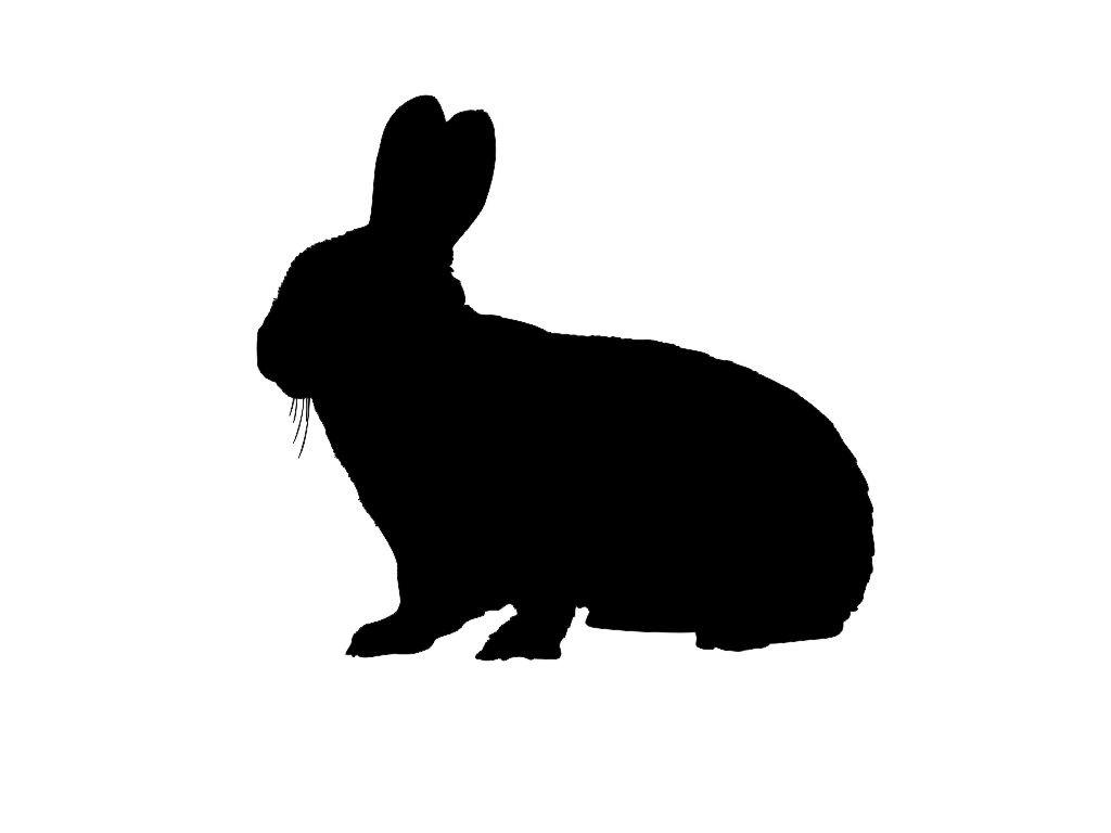 Hare clipart silhouette Rabbit Rabbit Free Silhouette