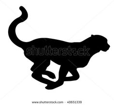 Shaow clipart cheetah Pictures & Silhouette Silhouettes Leopard