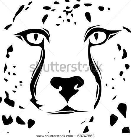 Shaow clipart cheetah Silhouette Face Cheetah silhouette Cheetahs