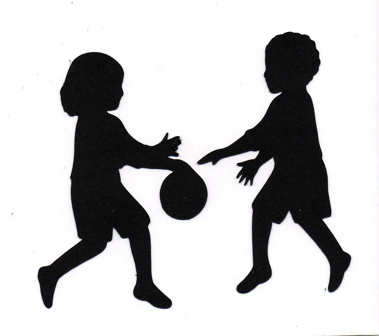Shaow clipart children's Clip Khafre Pose Kid Silhouette