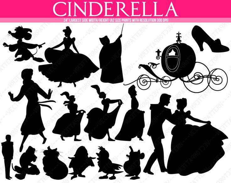 Shaow clipart cinderella Cinderella silhouette  Disney carriage