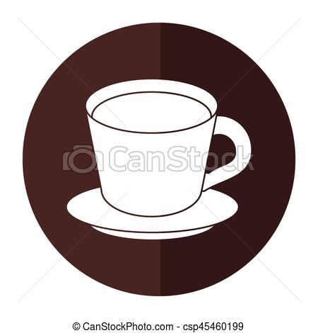 Coffee clipart shadow Plate eps EPS cup Vector