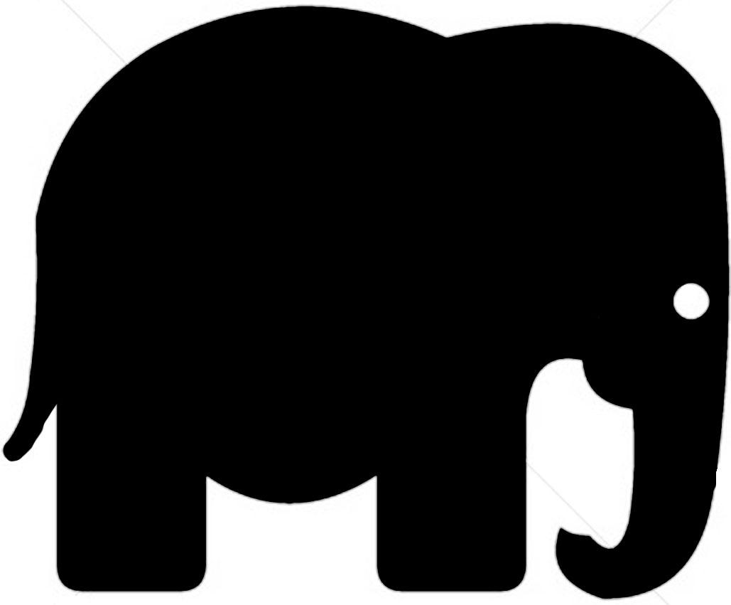 Simple clipart elephant Elephant Clip Shadow Cliparts Art