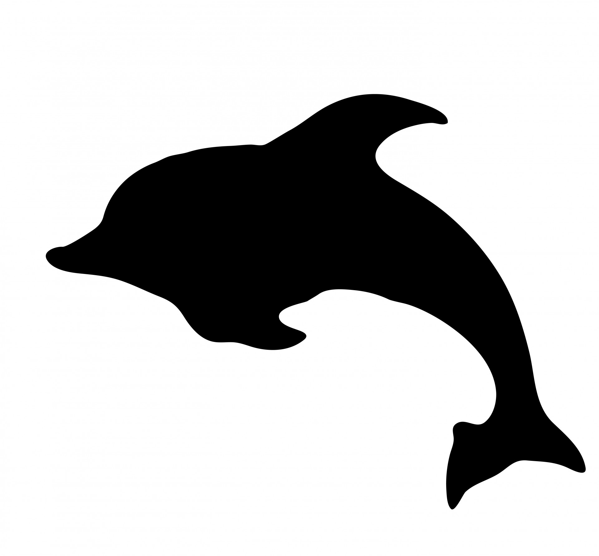 Shaow clipart dolphin Stock Clipart Dolphin Silhouette Public