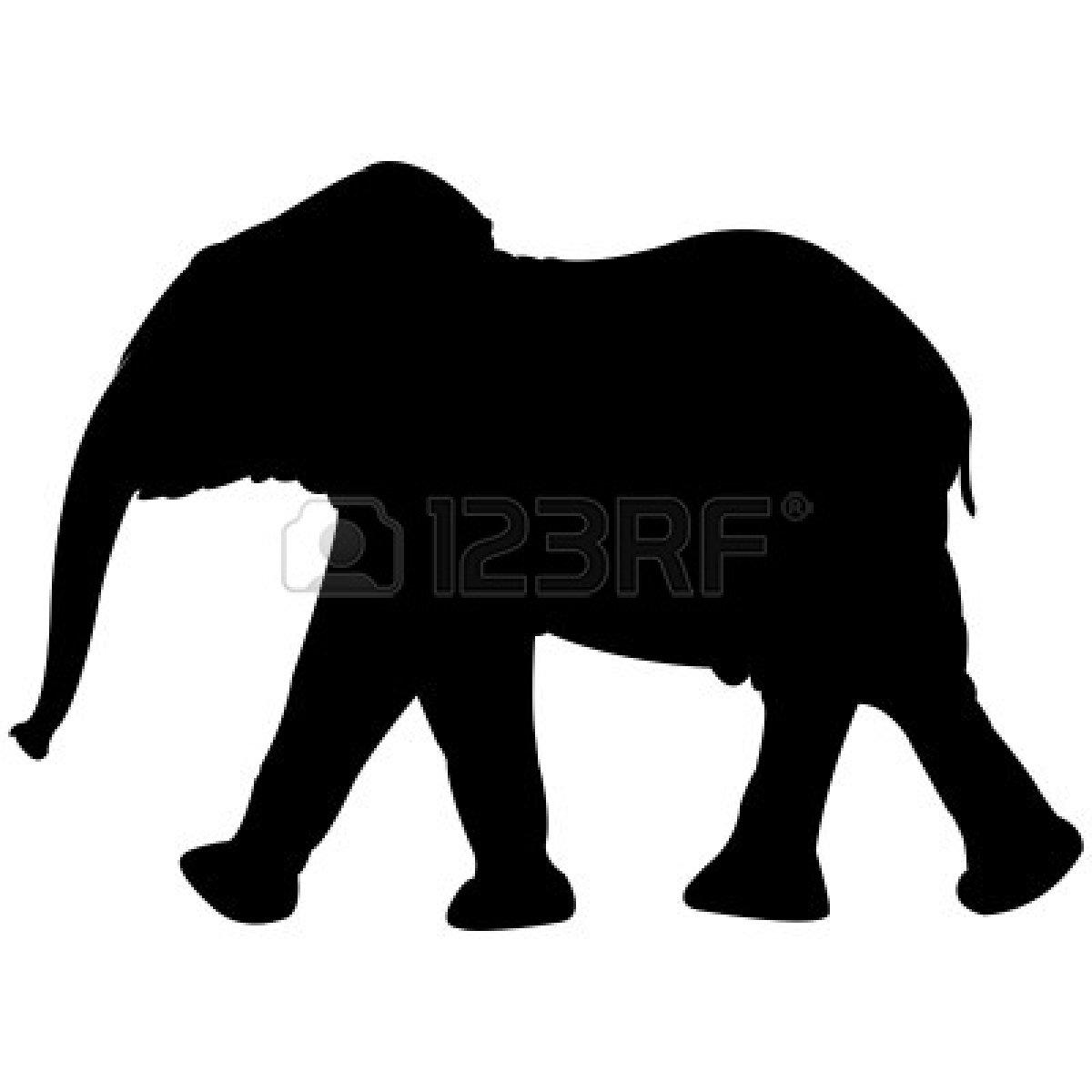 Asian Elephant clipart african elephant Silhouette Clipart Silhouette Baby elephant