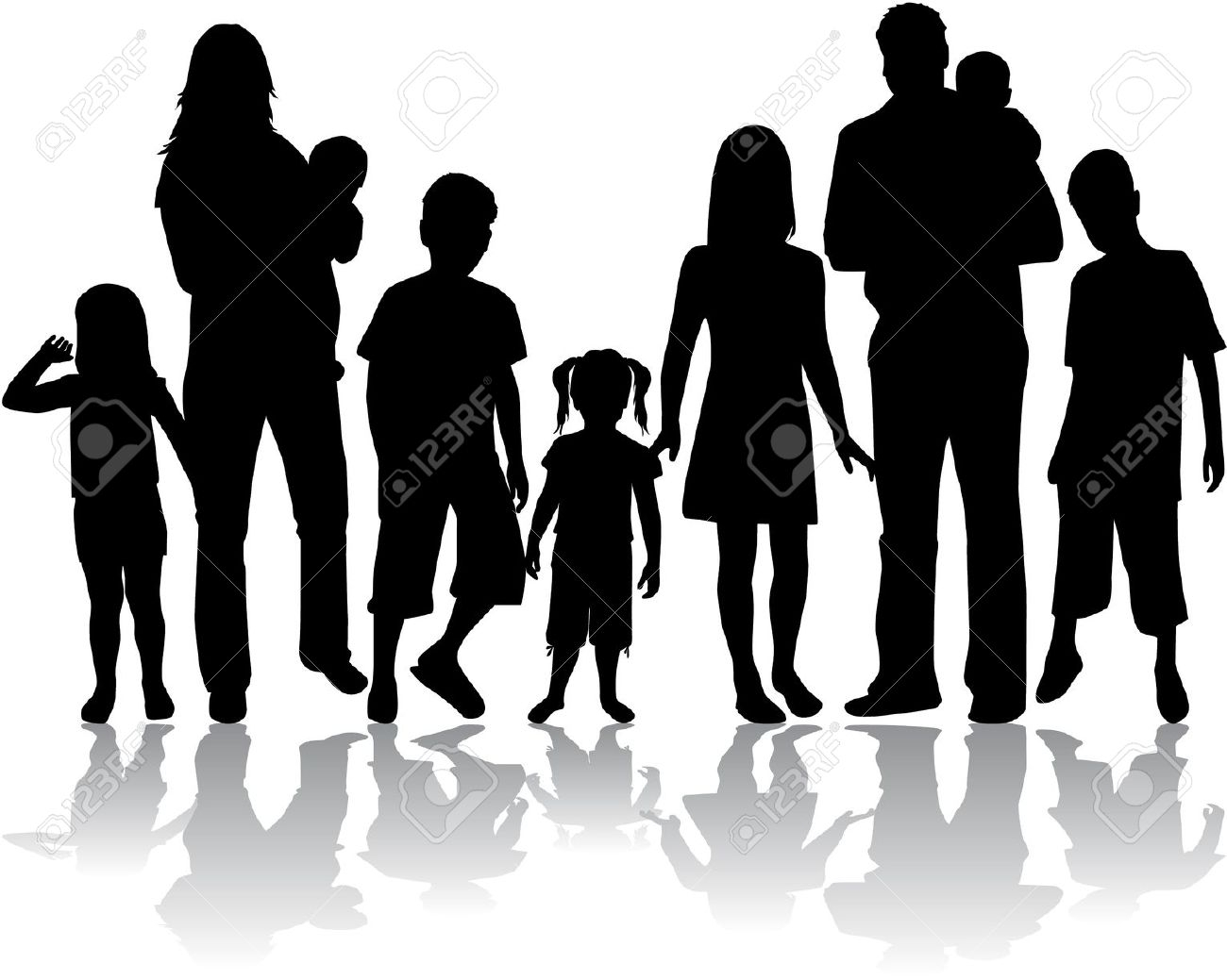Shaow clipart family Clipart Clipart Large Family –