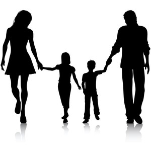Shaow clipart family Shadows art People/Body clip &