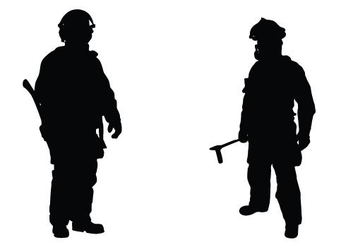Shaow clipart fireman Zone silhouette clipart Silhouette Cliparts