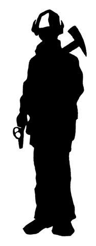 Shaow clipart fireman Art Clip Pin Silhouette Shadow