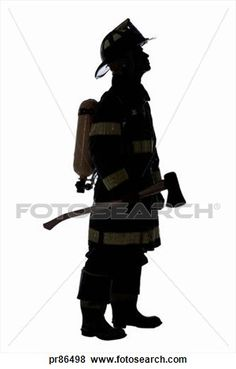 Shaow clipart fireman Firefighter Silhouette Saturday Art info