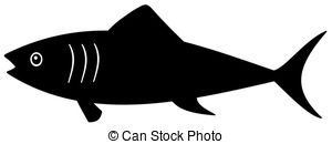 Shadow clipart fish #10
