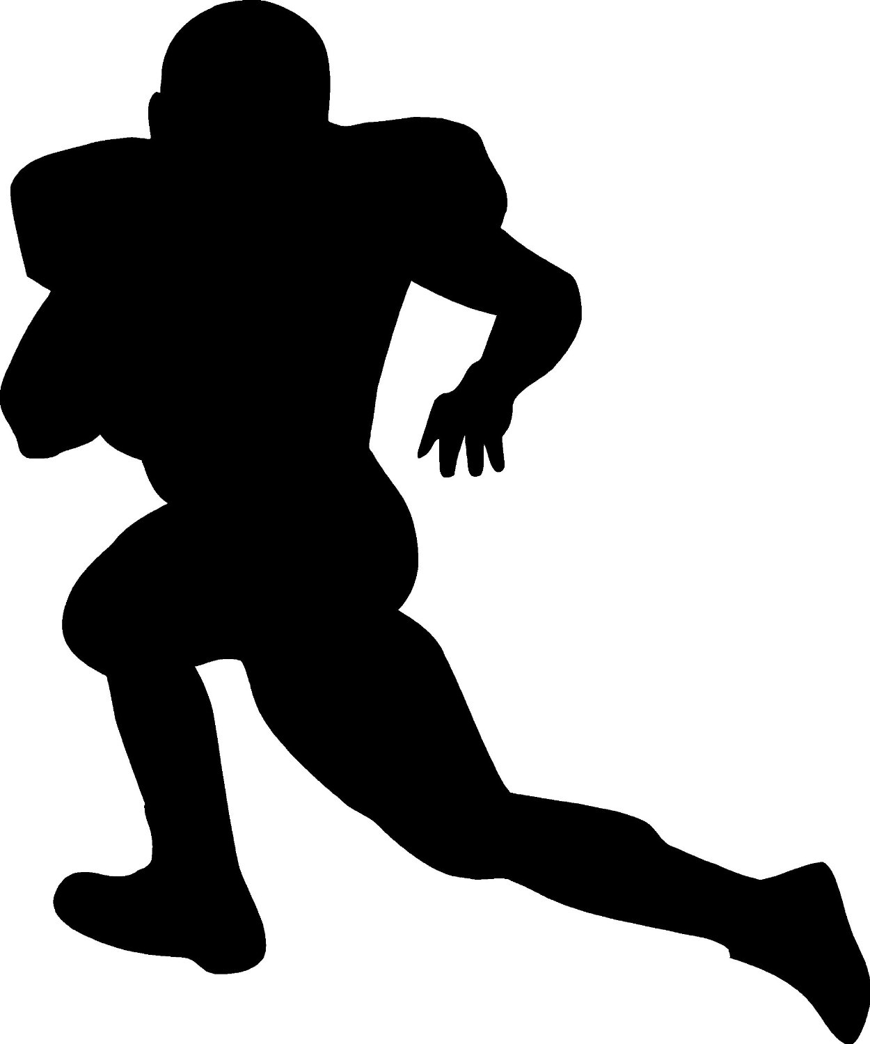 Football clipart silhouette Free Images Player Football Art
