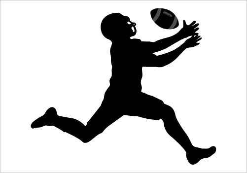 Football clipart silhouette Art Free Player Football Art