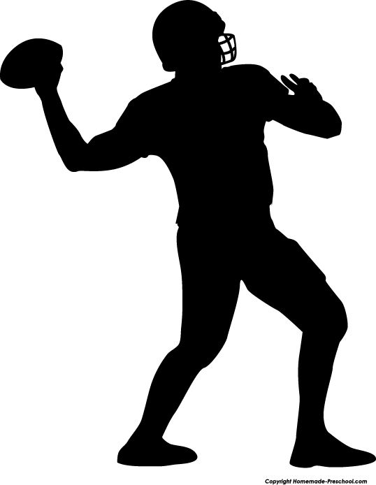 Football clipart silhouette Free to Click Silhouette Clipart