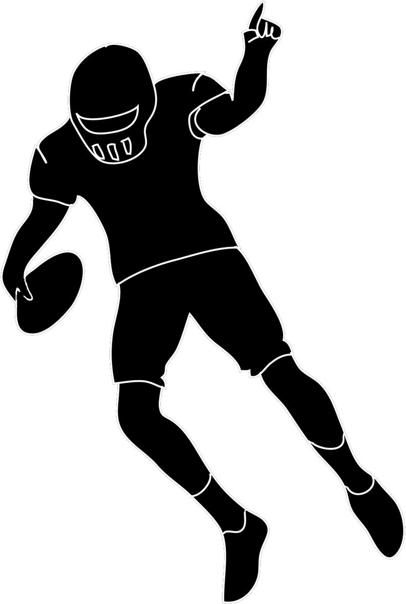 Sport clipart silhouette Clipart standing%20football%20player%20clipart Running Panda Player