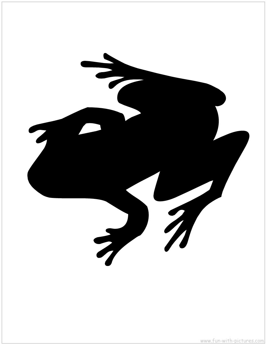 Shadows clipart frog Silhouette Frog Silhouette